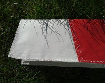 Checkbook wallet dinghy sail shape
