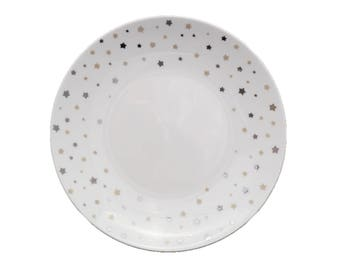 """""""Constellation"""" Limoges painted porcelain plate handmade mother's day stars"""