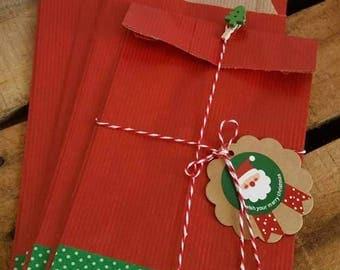5 x Christmas bag gift wrapping Kit
