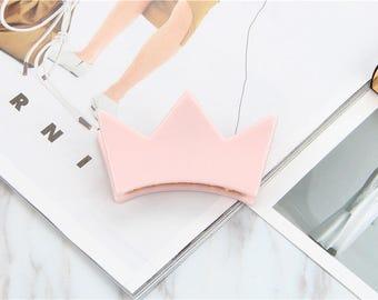 Crown Hair Claw Clip - Pink