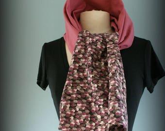 Etole  foulard  écharpe cheich Pluie Vieu rose