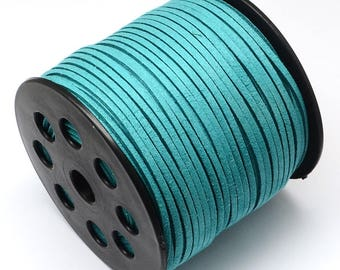 5 Metters 2.7x2mm turquoise suede cord