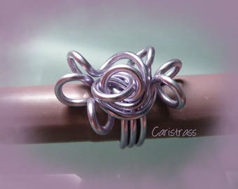 Sweet light lilac colored ring