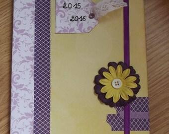 Yellow and purple agenda 2015-2016.