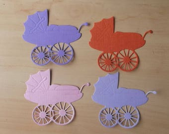 cuts 4 carriages for your scrapbooking creations.