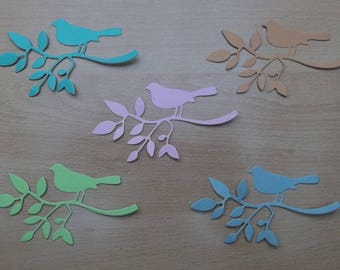 5 cuts branch birds for your scrapbooking creations, set no. B 17.