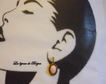 Lovely feminine pink and gold earrings