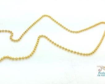1 m string ball 1.5 mm chain (ch50) gold metal balls