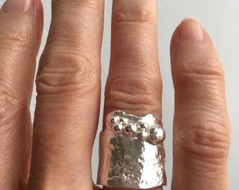 Reticulated sterling ring
