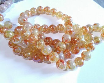 10 mm / 25 cracked glass guaranteed chip beads