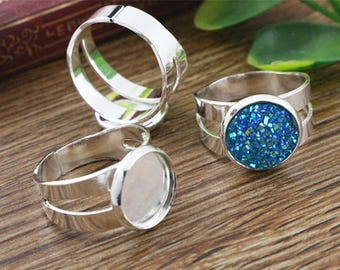 5 supports of the ring 12 mm cabochon