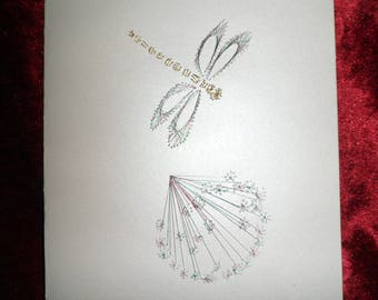 card any occasion embroidered Heather yarn