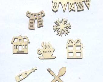 """Different"" wooden embellishment Pack"