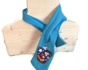 Blue boy Mickey scarf
