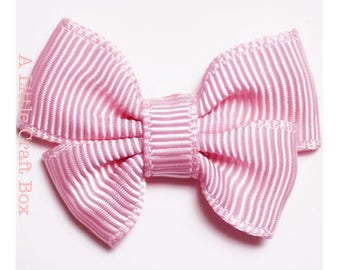 Pink double grosgrain - 6 bows