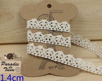 C2-02-Beige colour cotton lace Ribbon 5 meters
