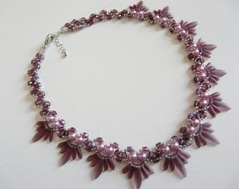 "DAGGERS ""AMETHYST"" NECKLACE"