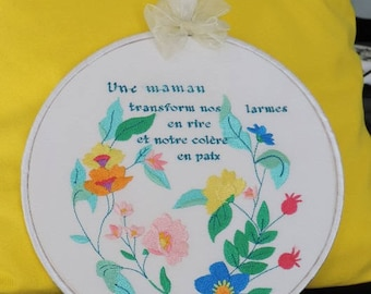 Frame round mother's day gift idea.