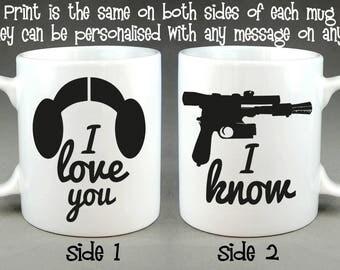I Love You / I know Matching Mug Set