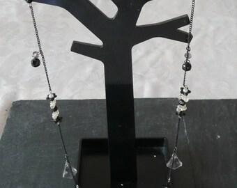 Black Butterfly Necklace 73.5 cm