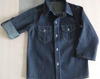 shirt 4t blue jeans fabric