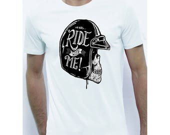 Tee shirt bike ride whit me