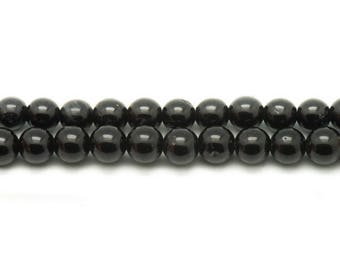 39cm env - stone beads - black Tourmaline 47pc yarn balls 8mm