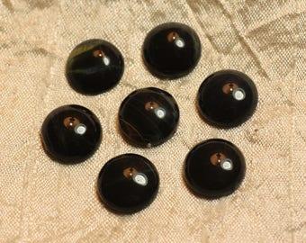 1pc - Cabochon gemstone - eye of Hawk round 15 mm 4558550022530
