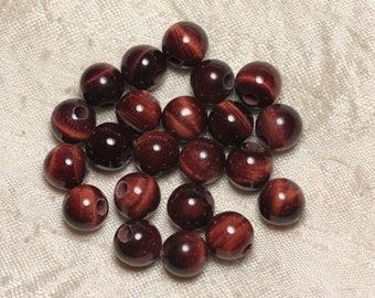 2PC - stone 2.5 mm hole beads - 10 mm 4558550025906 Bull's eye