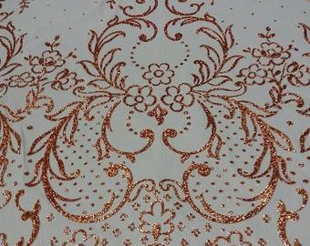 fabrics lightweight ottoman cinnamon color glitter copper width 150 cm