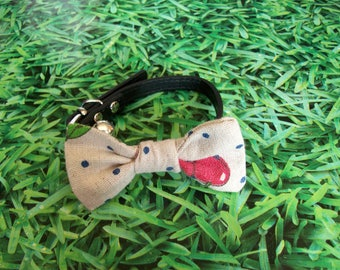 dog or cat bow necklace