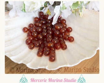carnelian natural 6mm - semi precious beads 10 beads