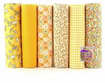 Set of 6 fabrics patchwork 50x50cm
