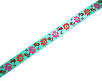 Ribbon 15 mm X 50 cm wide floral print