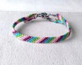 Fancy Rainbow multicolor Friendship Bracelet woven bracelet Brasilda Emy hippie