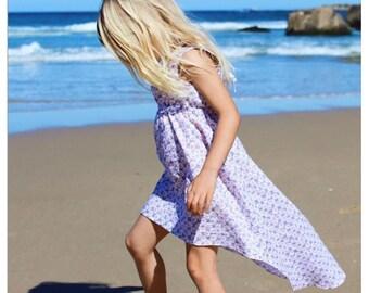 High Low summer beach dress ~ sizes 4-8