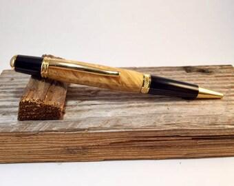 Hand Turned Box Elder Wall Street II Pen Free Shipping in lower 48 states