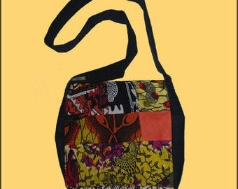 African WAX fabric patchwork bag