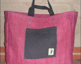 Hemp and organic cotton tote bag