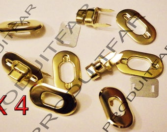 lot 4 turnlock wreck gold swivel for handbag satchel bag