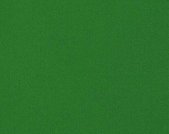 Plain green cotton patchwork fabric