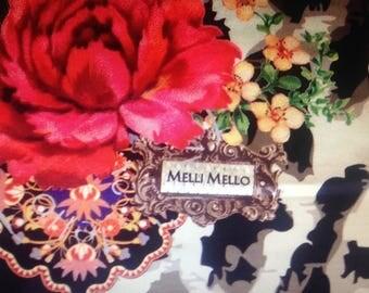 Cotton sateen coupon luxurious hodgepodge 50 cm x 50 cm