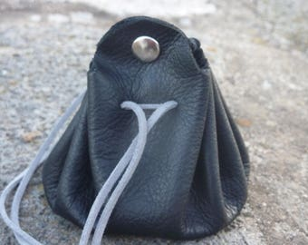 purse/door man wallet black leather