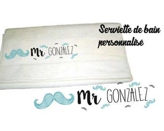 MUSTACHE 50 X 100 personalized bath TOWEL