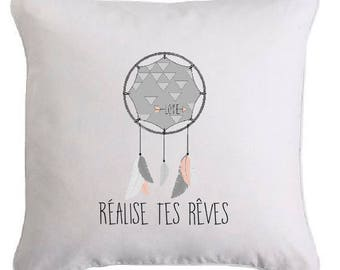 "Removable cushion ""Realize your dreams"""
