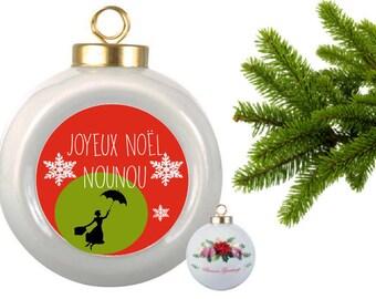 BALL of Christmas ceramics 'Joyeux Noël nanny' PERSONALISED