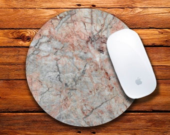 Marble Mousepad Round Mouse Mat Marble Mouse Mat Personalized Mousepad Christmas Mousepad Gift for her Oficce Accesorizes Mouse Pad Computer
