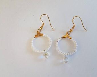 Drill ring Swarovski Crystal earring