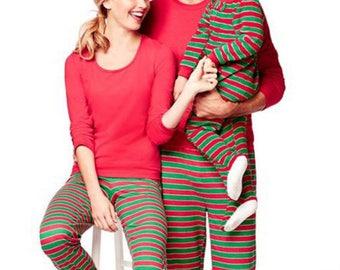 Personalised Family Christmas Pyjamas, Christmas Pajamas, Custom  Family Christmas Pajamas, Girls , Boys,