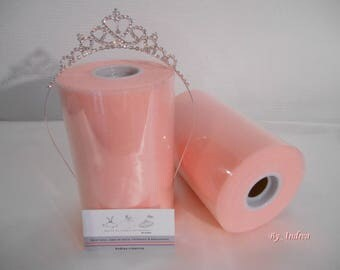 Roll of good quality tulle in pink nylon powder to make a skirt or tutu dress